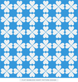 Blue flat hearts seamless background pattern vector image