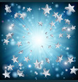 blue star explosion background vector image vector image