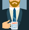 boss day concept background flat style vector image