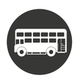 bus london isolated icon vector image vector image