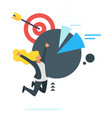 businessman jumps from happiness vector image vector image