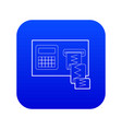 cardiograph icon blue vector image vector image