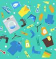 cartoon laundry background pattern vector image