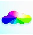 cloud with rainbow and stars vector image vector image
