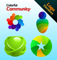 colorful community vector image vector image