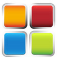 colorful squares with rounded corners and vector image vector image