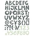 Coloured alphabet vector image vector image