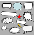 Comic speech bubbles icons collection of cloud vector image vector image