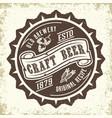 craft beer emblem design vector image vector image