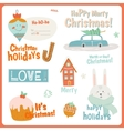 Cute Cards Notes Stickers Labels Tags vector image vector image