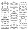 decorative swirls dividers old text delimiter vector image vector image