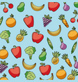 food vegetables and fruit delicious seamless vector image