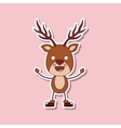 funny Christmas character isolated icon design vector image vector image