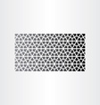 geometric abstract background black pattern vector image vector image