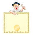 graduate and diploma vector image vector image