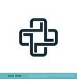 health care cross icon logo template design eps 10 vector image vector image