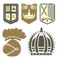 heraldic royal crest medieval knight elements vector image