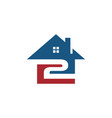 home with 2 logo icon vector image vector image