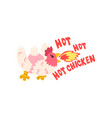 hot chicken spicy fire rooster creative logo vector image vector image