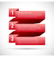 Infographic with numbered infographic ribbons vector image vector image