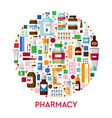 medicine and pharmacy drug store banner pills vector image vector image