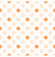 minimalist orange and white seamless art pattern vector image vector image