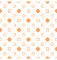 minimalist orange and white seamless art pattern vector image