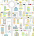 Morning city seamless pattern Texture Cartoon cute vector image vector image