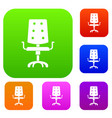 office chair set color collection vector image vector image