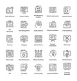 pack seo line icons vector image vector image