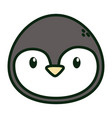penguin face polar animal bird icon vector image vector image