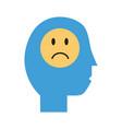 profile person sick with covid19 symptom flat vector image vector image