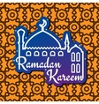 Ramadan greeting card with mosque silhouette vector image vector image