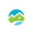 round house icon logo vector image vector image