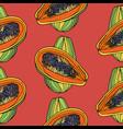 seamless pattern with papaya vector image vector image