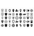 shield icon set simple style vector image vector image