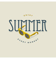 summer vintage sign with sunglasses vector image vector image