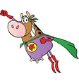 Super Hero Cow Fly vector image vector image