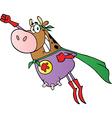 Super Hero Cow Fly vector image