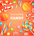 Sweets And Candies Background vector image