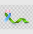 symbol rare disease realistic ribbon template vector image