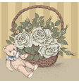 teddy bear rose vector image vector image