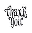 Thank you handwritten dark brush pen lettering vector image vector image