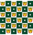 Tiger Star Green White Chess Board Background