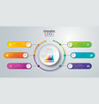 timeline infographics design with 6 options vector image vector image