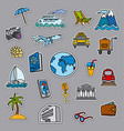 travel concept stickers vector image vector image