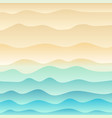 tropical beach and wave blue sea background vector image vector image