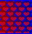 two hearts red and blue vector image vector image