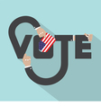 Vote Typography Design vector image vector image