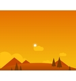 Wallpaper Landscape of Desert Mountains and Sun vector image vector image